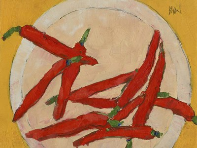 Peppers on a Plate III art print by Sam Dixon for $38.75 CAD