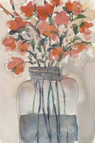 Flowers in a Jar I art print by Sam Dixon for $60.00 CAD