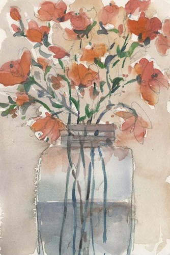 Flowers in a Jar II art print by Sam Dixon for $60.00 CAD