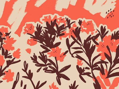 Red Rhododendron II art print by Jacob Green for $38.75 CAD