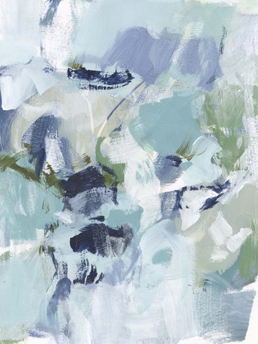 Azure Abstract I art print by Christina Long for $63.75 CAD