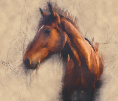 Blended Horse III art print by Kim Curinga for $83.75 CAD