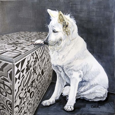 Playful Pup I art print by Carol Dillon for $53.75 CAD