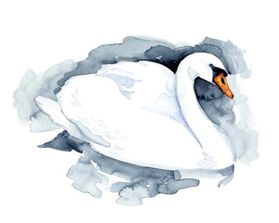 Silverlake Swan I art print by Jacob Green for $53.75 CAD