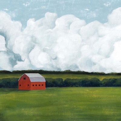Lone Barn I art print by Grace Popp for $53.75 CAD