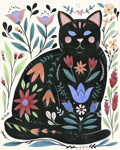 Folksy Feline II art print by Annie Warren for $53.75 CAD