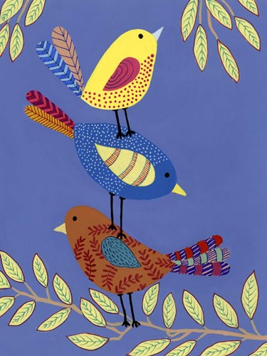 Patterned Feathers I art print by Regina Moore for $38.75 CAD
