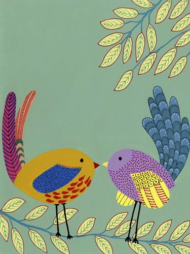 Patterned Feathers II art print by Regina Moore for $38.75 CAD