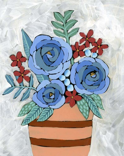 Bleu Blume I art print by Regina Moore for $53.75 CAD