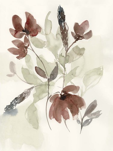 Dusty Flower Composition I art print by Jennifer Goldberger for $63.75 CAD