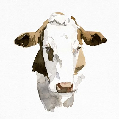 Watercolor Bovine I art print by Emma Caroline for $46.25 CAD