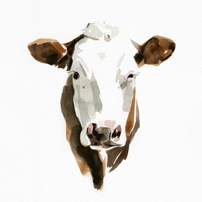 Watercolor Bovine III art print by Emma Caroline for $46.25 CAD