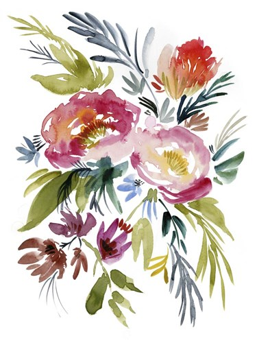 Jeweled Bouquet I art print by Jennifer Goldberger for $63.75 CAD