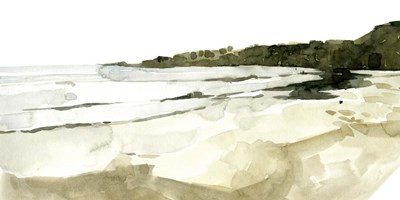 Simple Watercolor Coast I art print by Emma Caroline for $50.00 CAD