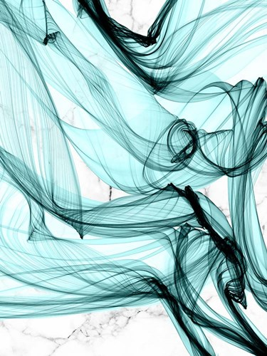 Teal Ribbons V art print by Irena Orlov for $63.75 CAD