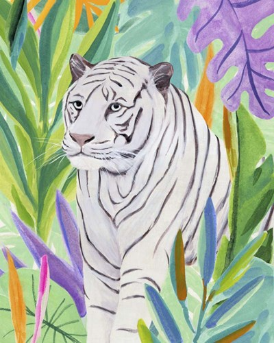 Tropic Tiger I art print by Annie Warren for $53.75 CAD
