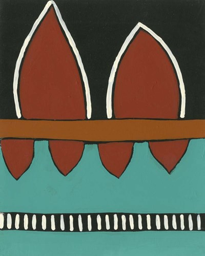 Rust & Teal Patterns IV art print by Regina Moore for $53.75 CAD