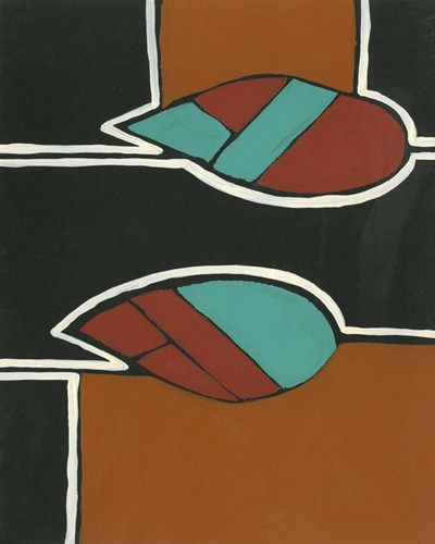 Rust & Teal Patterns VI art print by Regina Moore for $53.75 CAD