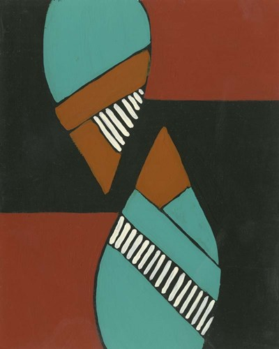 Rust & Teal Patterns VIII art print by Regina Moore for $53.75 CAD
