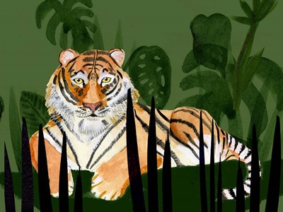 Tiger Tiger II art print by Alicia Ludwig for $38.75 CAD