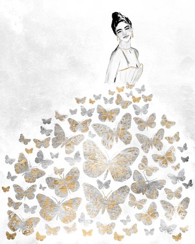 Fluttering Gown I art print by Annie Warren for $53.75 CAD