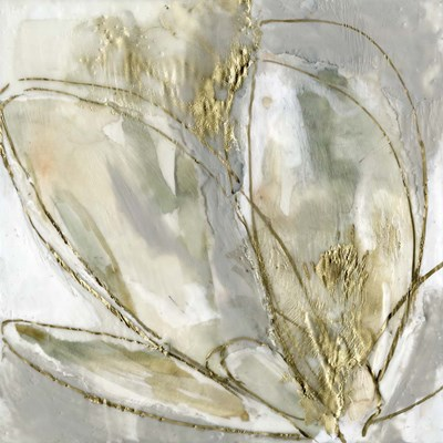 Blooming Gold II art print by Jennifer Goldberger for $61.25 CAD