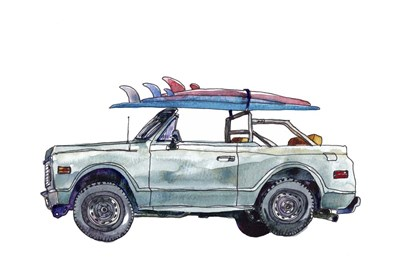 Surfin' Wheels I art print by Paul McCreery for $42.50 CAD