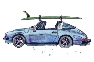 Surfin' Wheels IV art print by Paul McCreery for $42.50 CAD