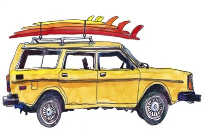 Surfin' Wheels V art print by Paul McCreery for $42.50 CAD
