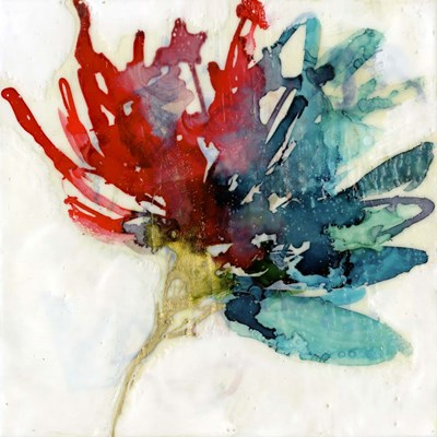 Splashed Flower I art print by Jennifer Goldberger for $53.75 CAD
