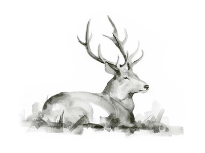 Recumbent Stag I art print by Jacob Green for $38.75 CAD