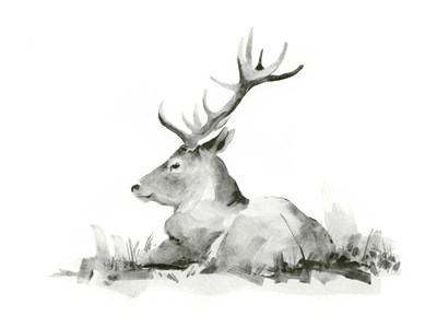 Recumbent Stag II art print by Jacob Green for $38.75 CAD