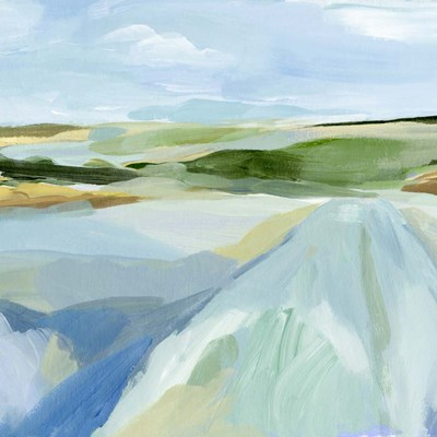 Sky Blue Fields I art print by Annie Warren for $61.25 CAD