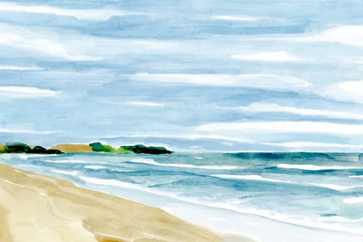 Coastline Calm I art print by Annie Warren for $60.00 CAD
