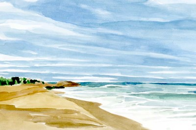 Coastline Calm II art print by Annie Warren for $60.00 CAD