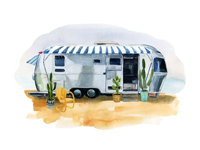Happy Camper II art print by Annie Warren for $63.75 CAD