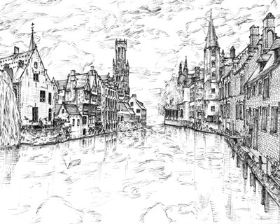 European Vacation in B&W I art print by Melissa Wang for $53.75 CAD