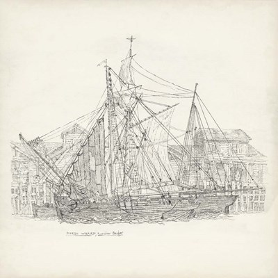 Antique Ship Sketch X art print by Richard Foust for $112.50 CAD