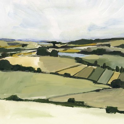 Patchy Landscape II art print by Victoria Barnes for $61.25 CAD