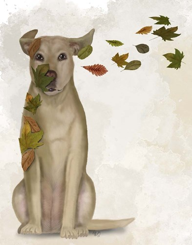 Yellow Labrador Windswept and Interesting art print by Fab Funky for $33.75 CAD