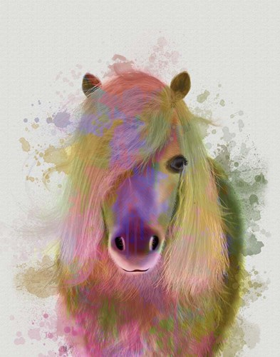Pony 1 Portrait Rainbow Splash art print by Fab Funky for $33.75 CAD