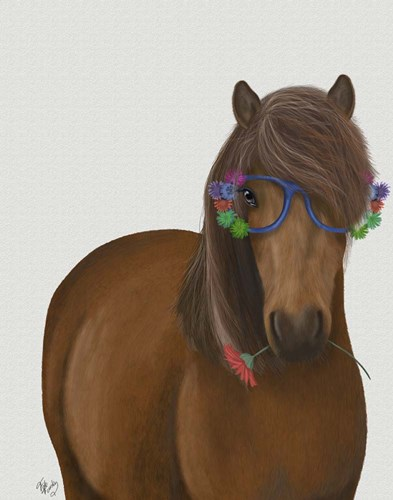 Horse and Flower Glasses art print by Fab Funky for $33.75 CAD