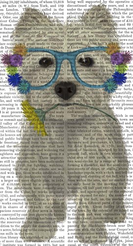 West Highland Terrier Flower Glasses art print by Fab Funky for $38.75 CAD