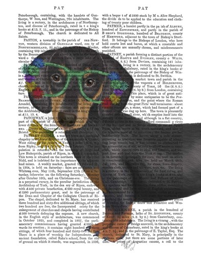 Dachshund Flower Glasses art print by Fab Funky for $33.75 CAD