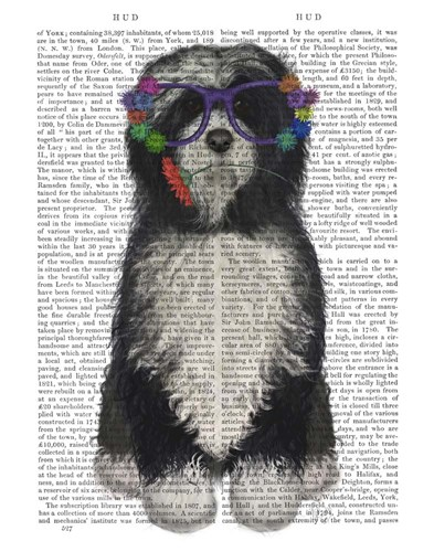 Tibetan Terrier Flower Glasses art print by Fab Funky for $33.75 CAD