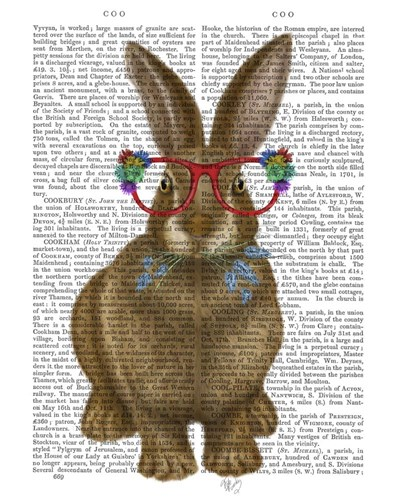 Rabbit and Flower Glasses art print by Fab Funky for $33.75 CAD