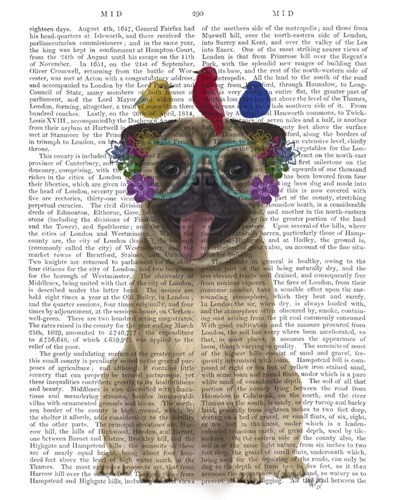 Pug and Flower Glasses art print by Fab Funky for $33.75 CAD