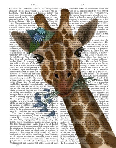 Chewing Giraffe 1 art print by Fab Funky for $33.75 CAD