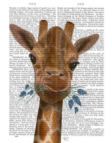 Chewing Giraffe 2 art print by Fab Funky for $33.75 CAD