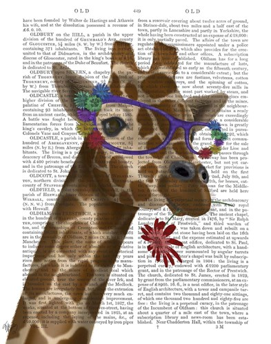 Giraffe and Flower Glasses 2 art print by Fab Funky for $33.75 CAD